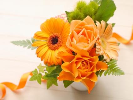 綺麗なオレンジのお花